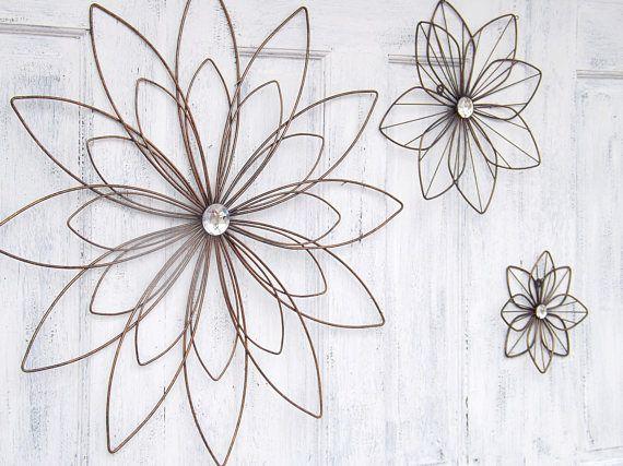Large Metal Flower Wall ArtFlower DecorBedroom WallWall