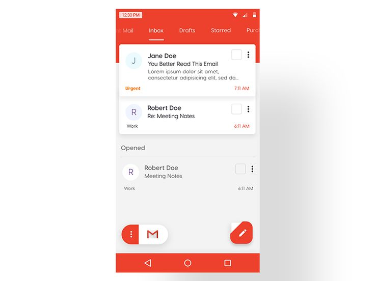 Gmail Mobile – Concept
