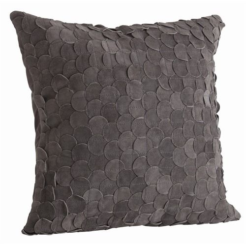 Willa Gray Suede Layered Disc Square Pillow  ARTERIORS...this one too please!