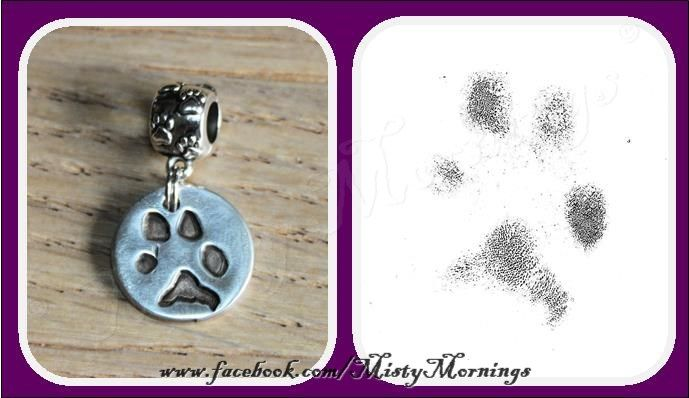gorgeous paw print charm www.facebook.com/MistyMornings