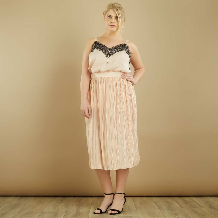 Top satinato stile lingerie Taglie forti donna - Kiabi - 18,00€