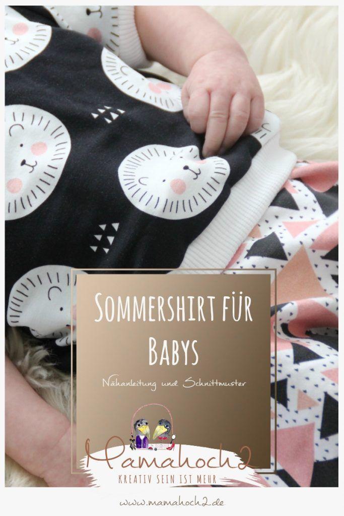 Freebook Sommer T-Shirt für Babys, Nähanleitung