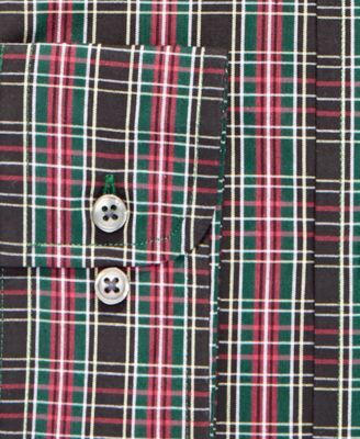 Assorted Men's Slim Fit Spread Collar Plaid Dress Shirts, Created for Macy's