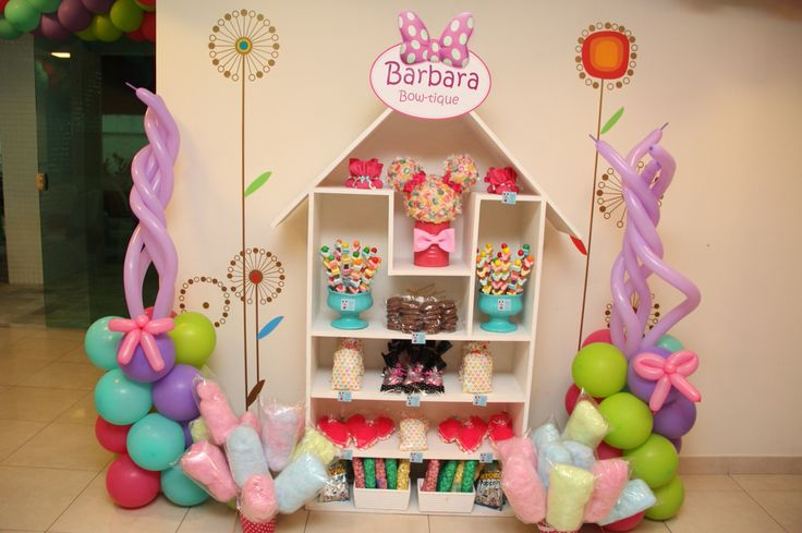 Ideias para festa minnie loja de laços Minnie bowtique party ideas