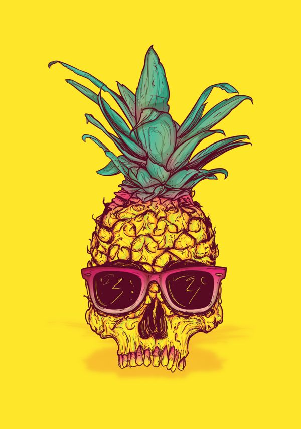 IT CAME FROM THE JUNGLE - PINEAPPLE EXPRESS by Michael Dos Ramos, via Behance