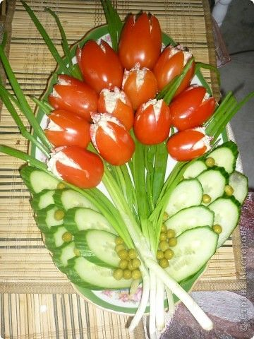 Veggie flower bouquet platter