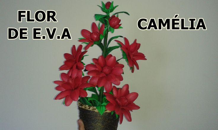 FLOR CAMÉLIA DE E V A