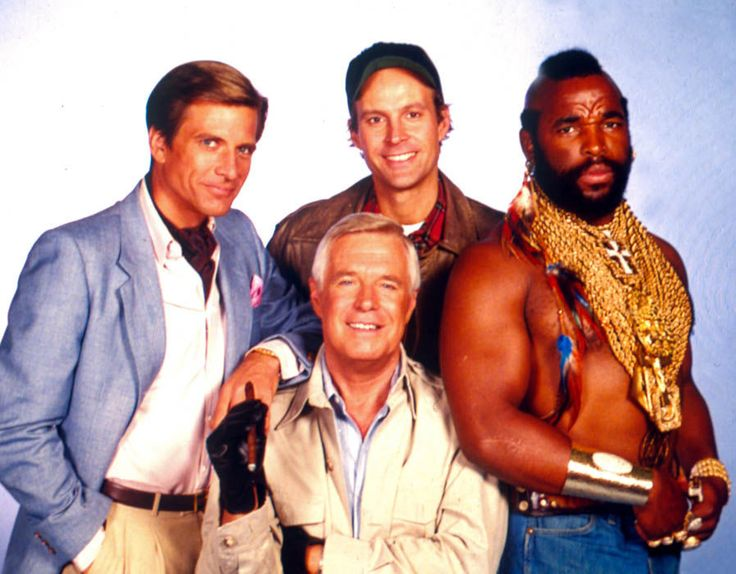 The A-Team,  Dirk Benedict,  George Peppard,  Dwight Schultz and Mr T