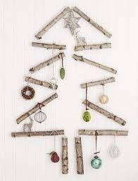 2D Bark Christmas Tree Outline Wall