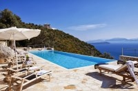 Cape Lougi - luxury, panoramic villa with infinity pool in Lefkada, Greece