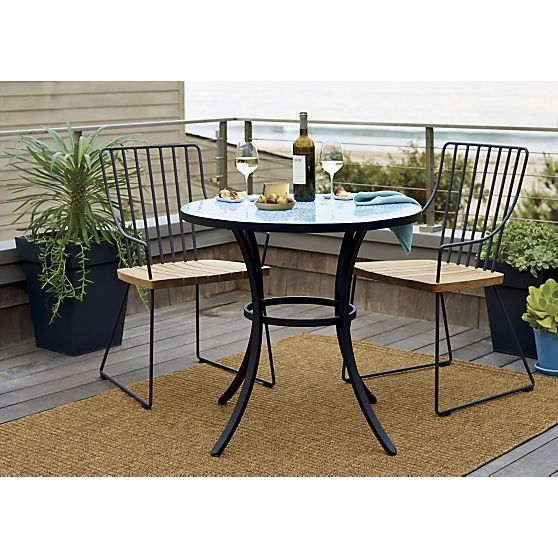 Mosaic Blue Bistro Table | Crate and Barrel
