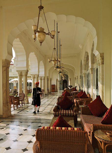 the style saloniste  Rambagh Palace, Jaipur