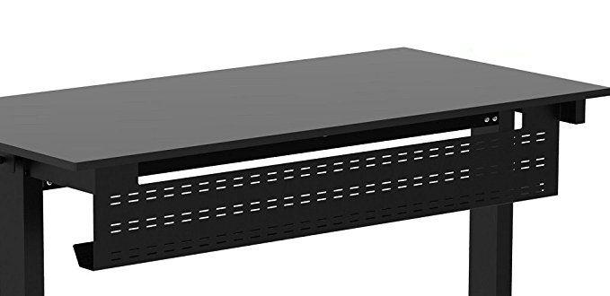 Under Desk Cable Management Tray 39 Length Black Horizontal