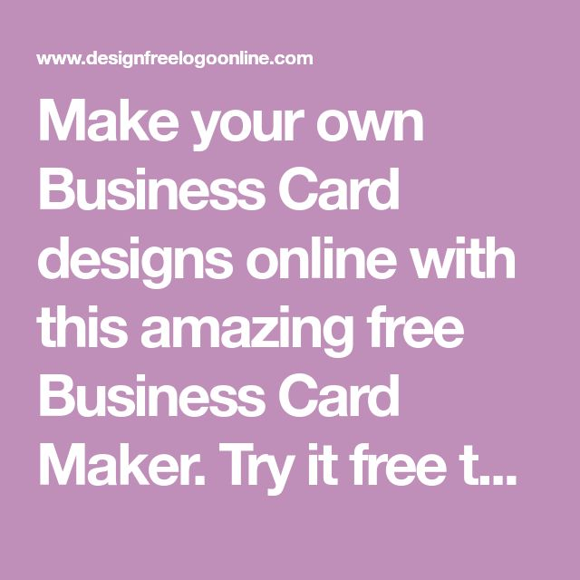 The 201 best free business card templates images on pinterest free make your own business card designs online with this amazing free business card maker try reheart Choice Image