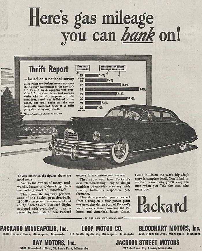 1948 Packard 8 Ad Packard Automobile Advertising Car Advertising