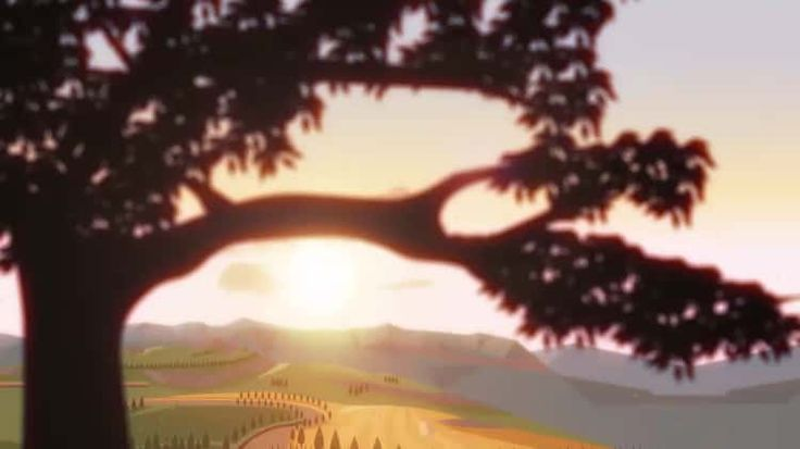 Animation made in Adobe Animate (ex Flash) for a short cartoon. As for countryside environment I really love the look of the italian Tuscany at sunset.