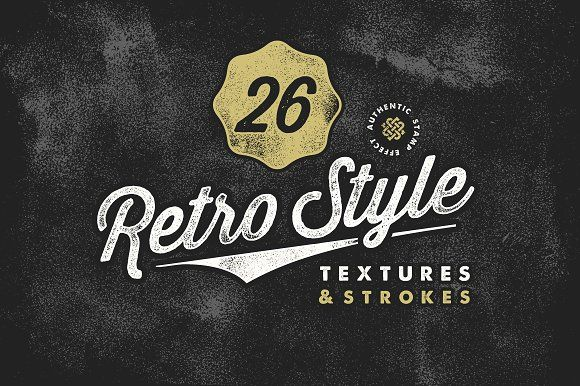 Retro Stamp Textures & Brush Pack by Sam Parrett on @creativemarket