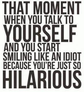 I'm still laughing at myself!!