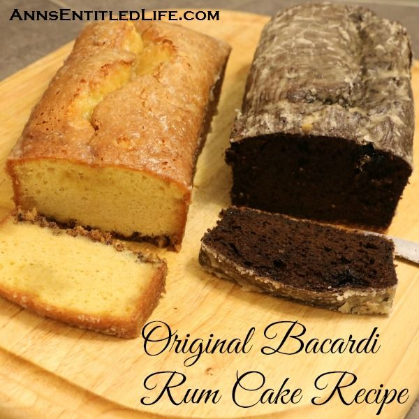 The Original Bacardi Rum Cake Recipe from the 1980s. This is one moist and delicious rum cake recipe!  http://www.annsentitledlife.com/recipes/original-bacardi-rum-cake-recipe/