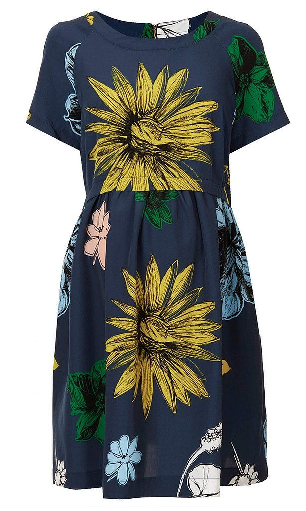 The floral trend is front and center on Topshop's Maternity Flower Smock Dress ($92).