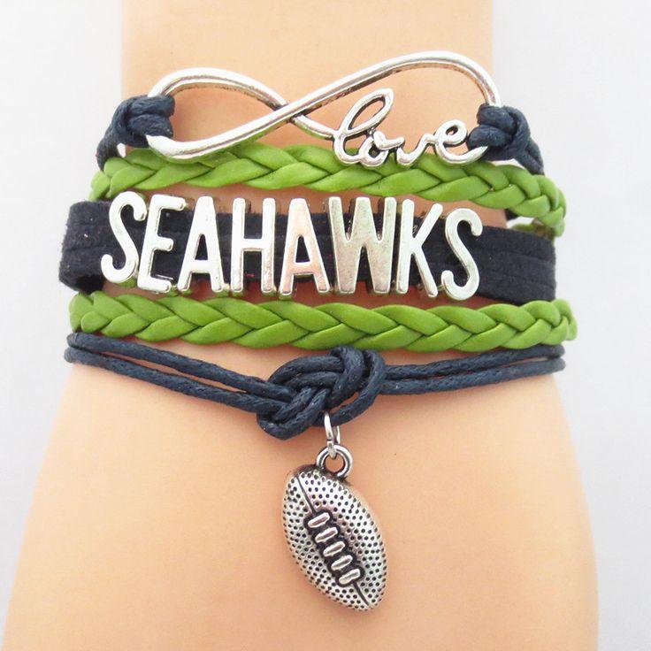 FREE Infinity Love Seattle  Seahawks Football Team NFL Bracelet