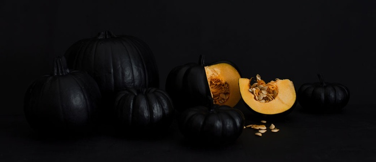 Pumpkins in black