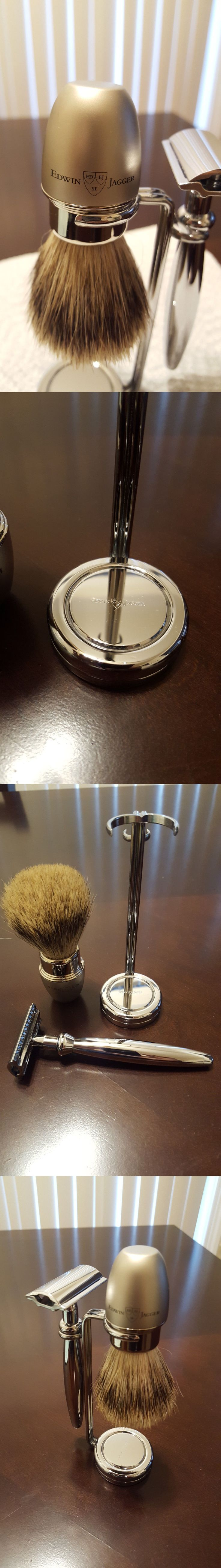 Shaving Brushes and Mugs: Edwin Jagger Shaving Brush, Double Edge Razor With Drip Stand -> BUY IT NOW ONLY: $89.95 on eBay!