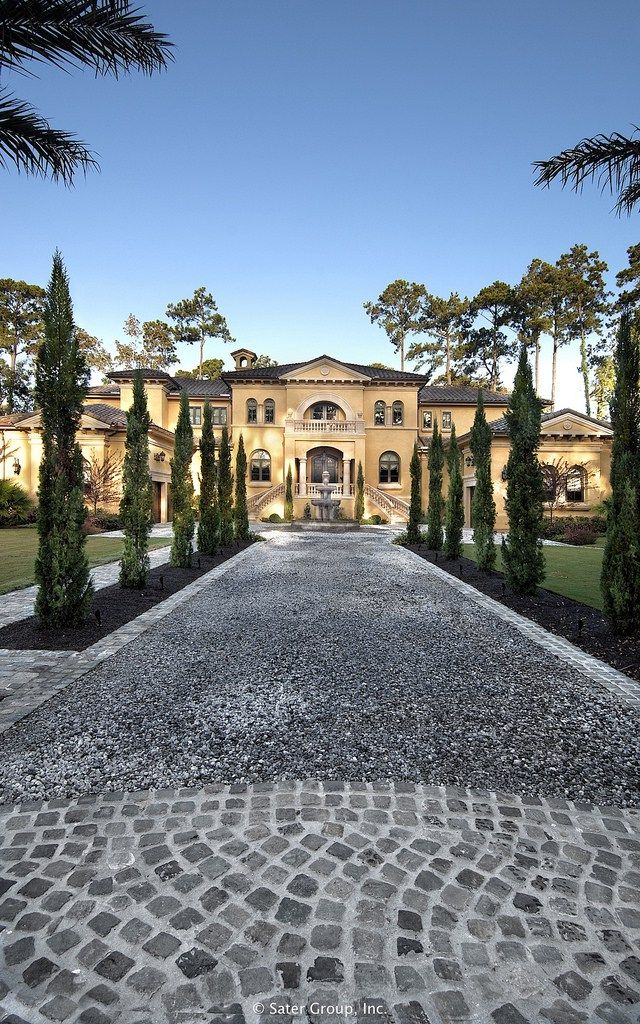 GLAM WIFE..The driveway up such a luxury, stunning home Villa Belle | The Sater Group, Inc. repin Bella Donna Luxe Designs