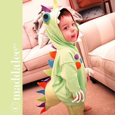 Art, DIY Free Printables, Kid Crafts, Party Decor, Notecards, Recipe Cards, DIY Journals, Felt Toys: UPDATE! Maddalee's DIY Little Dinosaur Halloween Costume, Free Tutorial and Pattern is ready and posted!
