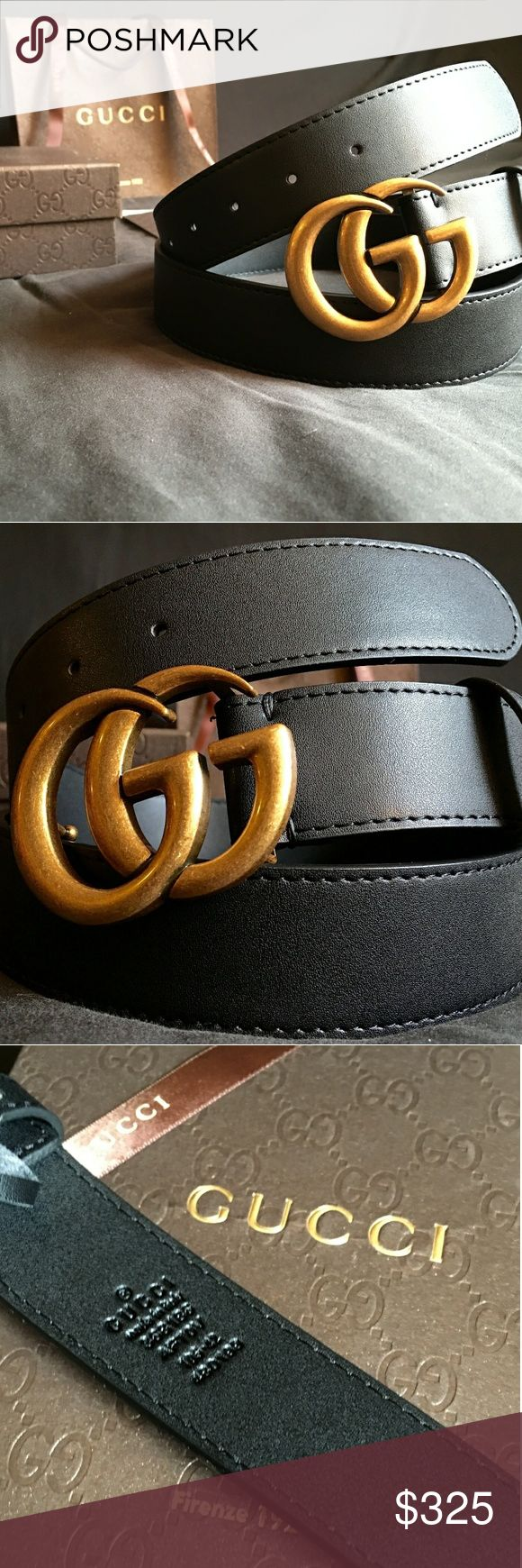 """Gucci Double G Belt!!! Gucci GG Belt W/Antique Brass Double G Buckle!!!  Brand New!!!  Unisex....For Man Or Woman!!!  Size Available - 30"""", 32"""", 34"""", 36"""", 38"""", 40"""", 42""""!!!  Includes Gucci Belt, Gift Box, Dust Bag, Ribbon, Etc!!!  Great Gift Idea!!!  Last Available!!!  Check My Listings For Other Great Items!!!              Ignore: Gucci gg monogram casual dress belts men's women's guccissma leather monogram web tiger bee embossed panther wool cable knit blooms supreme print angry cat ufo…"""