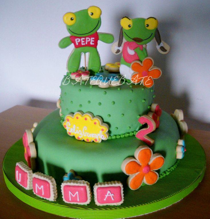 Torta sapo Pepe y Pepa