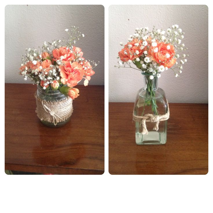 Peque os arreglos florales para casa o celebracion for Arreglos para mesa para boda