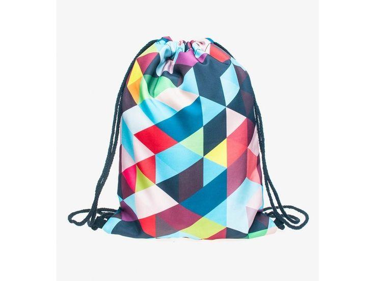 Vak na záda Gymsack s potiskem - Color Triangles