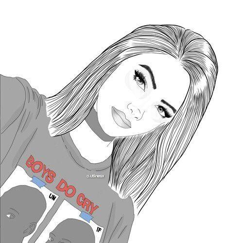 Line Drawing Of Girl Tumblr : Oooouuu digital drawings pinterest and girl