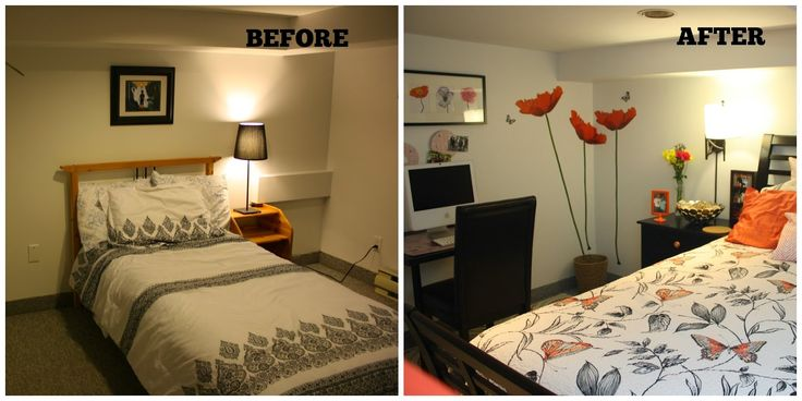 Decorating DIY: Coral bedroom transformation for our nanny