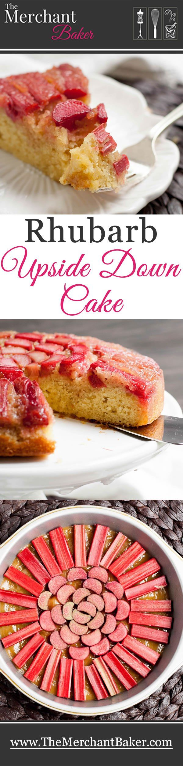 Rhubarb Upside Down Cake. Tart rhubarb gets baked in a buttery brown sugar caramel sauce and sits atop a deliciously easy, one bowl buttermilk cake.