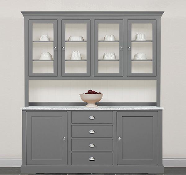 Kitchen Dresser bespoke kitchen dresser with cupboards eastburn country furniture Painted Kitchen Dressers The Kitchen Dresser Company