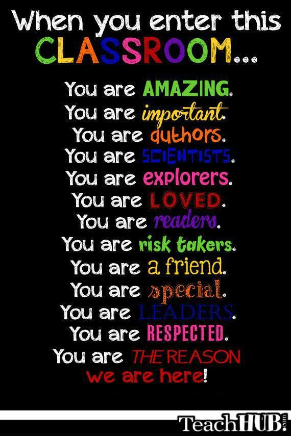 This is really a poster idea, but I think I would like to put it on my door. You should let students know you're happy they're there. 7812