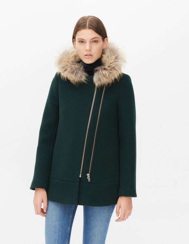 Maxa Coat - London Green - Sandro Paris | Fashion & Lifestyle for tall women | tall clothing | tall style | tall ootd | long arms | long legs | tall clothes