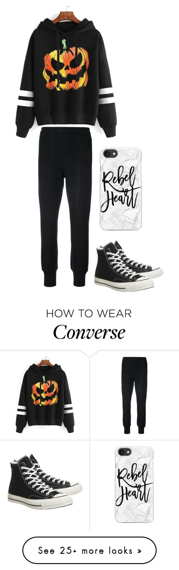 """""""lazy day #2"""" by lilythefangirl on Polyvore featuring WithChic, Ann Demeulemeester, Converse and Casetify"""