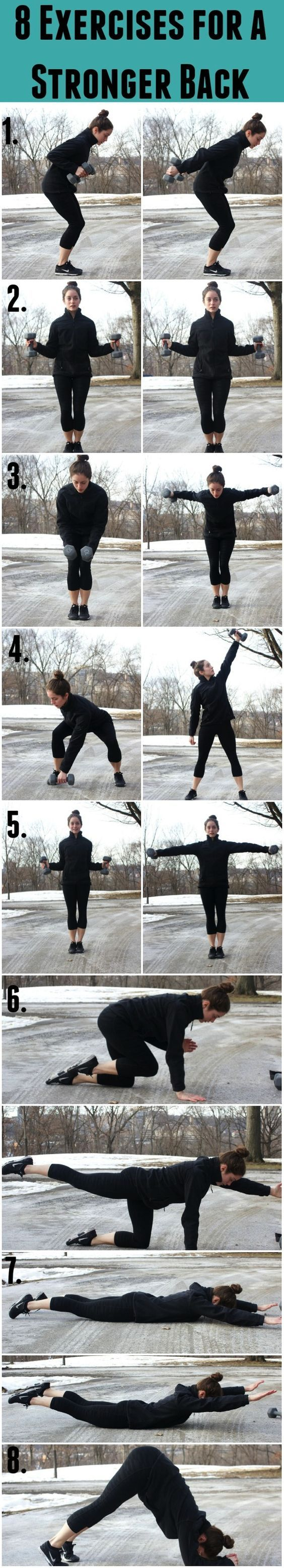 8 Exercises for a Stronger Back-Working your core is useless if you aren't also working your back muscles. These 8 exercises will help you increase your back strength!8 Exercises for a Stronger Back-Working your core is useless if you aren't also working your back muscles. These 8 exercises will help you increase