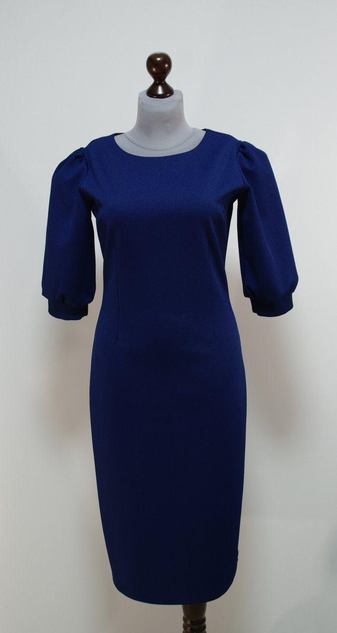 Темно-синее платье-футляр | Платье-терапия от Юлии
