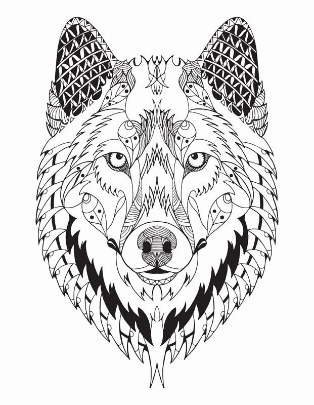 Wolf Mandala Coloring Pages Kids Mandala Coloring Pages Mandala Coloring Dog Coloring Page