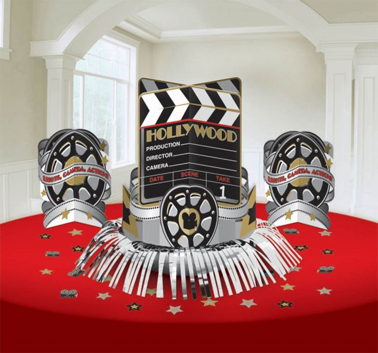 Decor Hollywood Party Decorations Velvet Table Red With Images Of Stars And Miniature Movie Equipment Whitewashed Room It Is Very Simple Idea   Buy Hollywood Party Decorations for Your Thematic Party