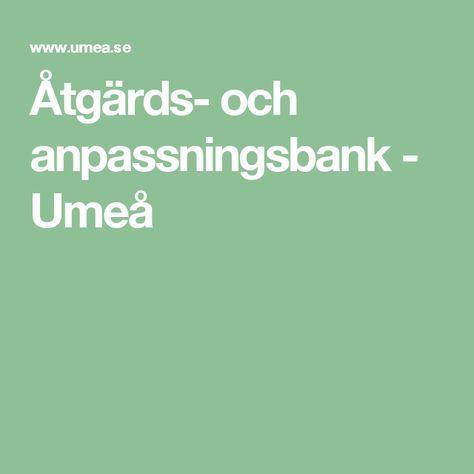 Åtgärds- och anpassningsbank - Umeå