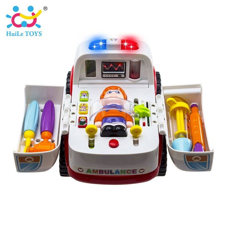 $60.58 - Awesome 2-in-1 Ambulance Doctor Vehicle Set Baby Toys Pretend Doctor Set and Medical Kit Inside Bump and Go Toy Car with Lights & Sounds - Buy it Now!