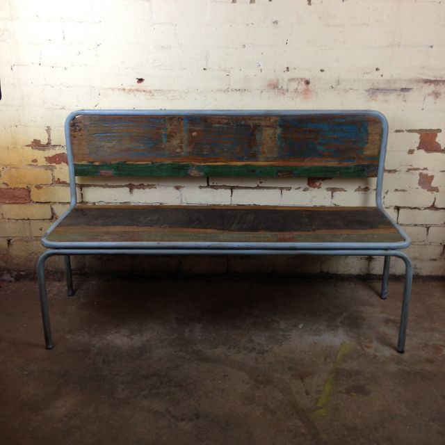 Kitchi Bench with back