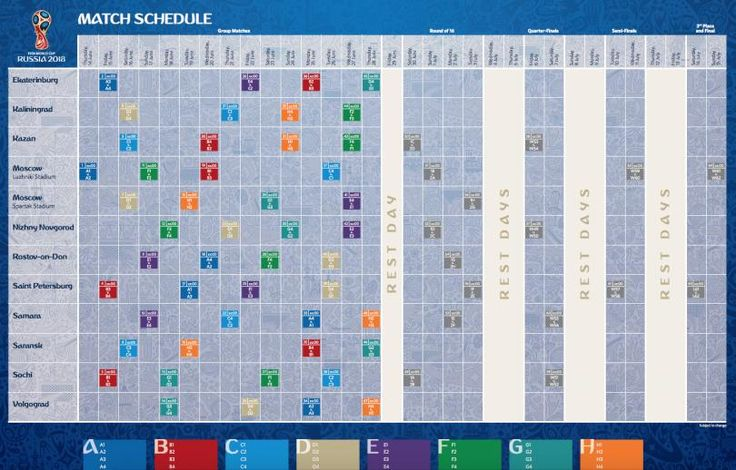 Calendario de partidos Rusia 2018