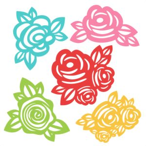 Flowers: Miss Kate Cuttables-- SVG scrapbook cut file cute clipart files for silhouette cricut pazzles free svgs free svg cuts cute cut files