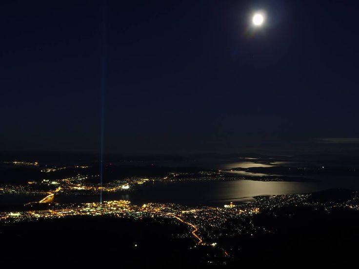 Full Moon over #Hobart